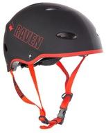 Kask Skateboardowy RAVEN F511 Black/Red L 58-60cm