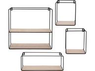 Metalowe Wiszące Półki ścienne kuchenne LOFT 4 SZT