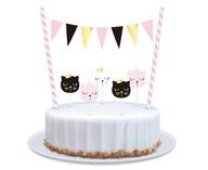 Świeczki na tort urodziny topper kot kotki 5 szt