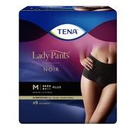 TENA Lady Pants Plus Noir Czarne M 9 szt