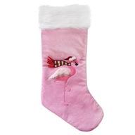 Skarpeta świąteczna but na prezenty z flamingiem