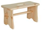 Stołek drewniany, krzesełko, zydel ryczka, taboret
