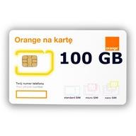 STARTER INTERNET NA KARTE ORANGE FREE 100 GB