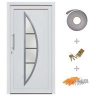 Drzwi wejściowe zewnętrzne, białe, 98 x 190 cm