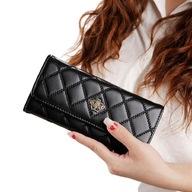 Duży portfel damski skórzany pikowany
