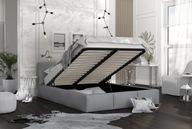 Łóżko tapicerowane stelaż materac 160x200 AMBER