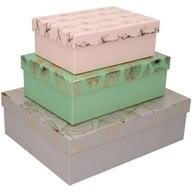 Zestaw pudełko na prezent kartonowe ozdobne 3 szt.