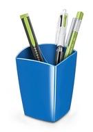 Pojemnik na długopisy niebieski biurko organizer