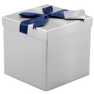 Pudełko na prezent srebrne M