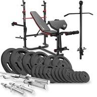 Zestaw kulturystyczny Hop-Sport Strong 146kg+hs-1065+w 125 kg
