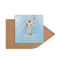 Kartka religijna wielkanocna Niebiańska