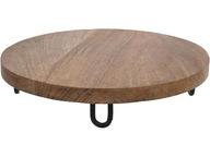 Taca Deska do serwowania 28cm Nóżki - drewno MANGO