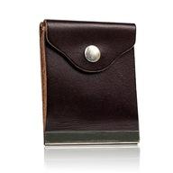 Banknotówka brązowa skórzany portfel na pieniądze