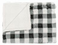 Koc Multi Decor 120x160cm biało-czarny