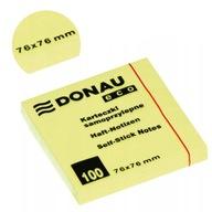 Karteczki Donau 76x76mm (1x100) eco żółte