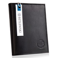 Skórzany portfel męski suwak BETLEWSKI RFID duży