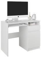 Meble biurko komputerowe stolik 96cm białe N35