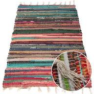 Dywanik tkany chodnik kolorowy frędzle 60x90 cm