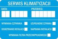 Naklejki serwisowe - SERWIS KLIMATYZACJI - 80szt