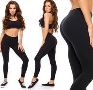 Leginsy sportowe damskie fitness legginsy czarne