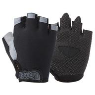 Outdoorowe rękawiczki rowerowe z pół palcami L
