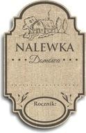 Etykiety Samoprzylepne na alkohol Nalewka 50szt