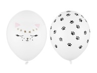 Balony urodziny łapki kotek 5 szt