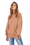 Długa oversizowa bluza golf damska Badura bawełna