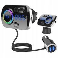 Transmiter FM Bluetooth Ładowarka 2xUSB kabel