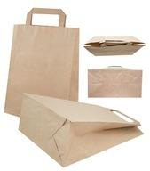 Torba torebka papierowa szara 220x100x300 25szt