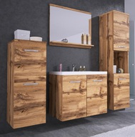 Meble łazienkowe szafka umywalka lustro 2x słupek