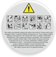 BEZBARWNE Naklejki znaki ostrzegawcze świec 200szt