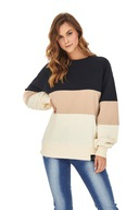 Badura bluza bez kaptura z długimi rękawami w pasy