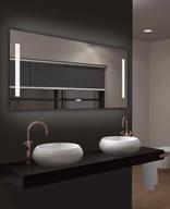 Lustro łazienkowe podświetlane LED 120x60cm zegar