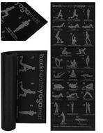 Antypoślizgowa Mata Fitness do Jogi Yoga + Planer