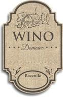 Naklejki etykiety na butelki Wino Domowe Retro 50
