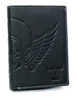 Czarny portfel męski skórzany Always Wild czaszka