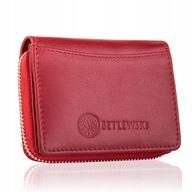 Skórzany portfel damski portfelik mały Betlewski