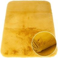 Miękki dywan rabbit gęsty plusz 80x150 cm żółty