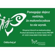 Logo zbiórki 100 milionów oddechów dla chorych na mukowiscydozę