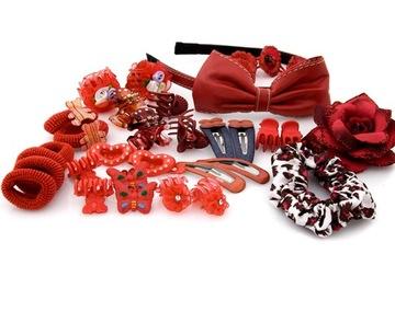 Купить Набор украшений для волос  красный на Otpravka - цены и фото - доставка из Польши и стран Европы в Украину.