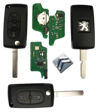 Ключ Citroen или PEUGEOT 2 - 4 Кнопки по VIN
