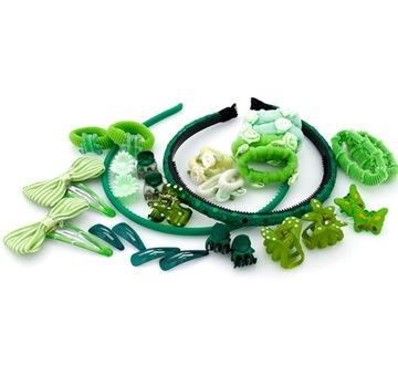 Купить Набор украшений для волос Зеленый Мне на Otpravka - цены и фото - доставка из Польши и стран Европы в Украину.