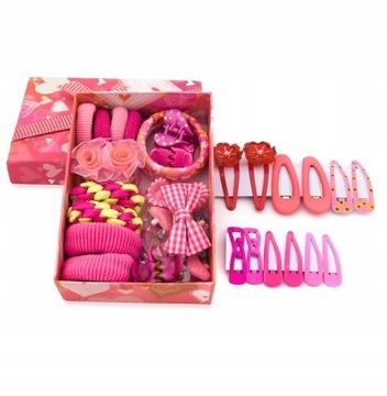 Купить Набор украшений для волос розовый коробка ex на Otpravka - цены и фото - доставка из Польши и стран Европы в Украину.