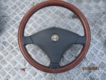 руль деревянная alfa romeo 147 156 gtv - фото