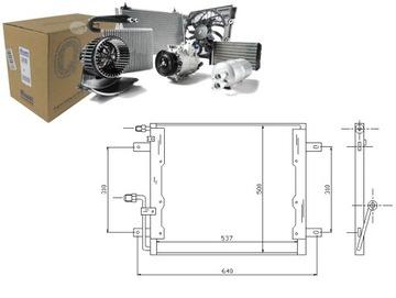конденсатор радиатор кондиционера nissens a66850002 - фото