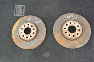 диск тормозной системы перед левая правая vw passat b7 usa - фото