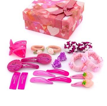 Купить Набор украшений для волос розовый коробка на Otpravka - цены и фото - доставка из Польши и стран Европы в Украину.