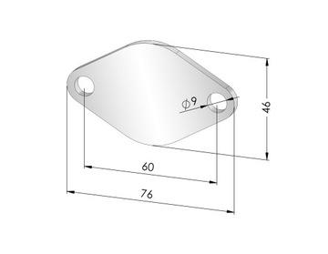 заглушки egr 1.9 2.5 tdi audi seat skoda vw - 4 mm, фото