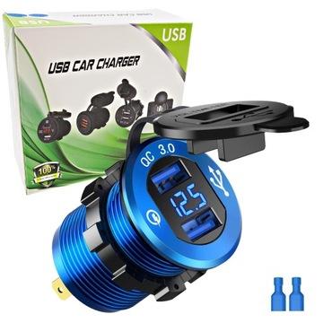 гнезда зарядное устройство автомобильная usb quick charge 3.0 - фото
